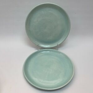 Everyware-Dinner-Chop-Charger-Plates-Hand-made-in-Mexico-Lot-of-2-Heavy-11-3-4