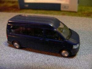 Trempé 1/87 Rietze Vw T5 Gp Kr Md Lr Bus Bleu Foncé 11522-afficher Le Titre D'origine