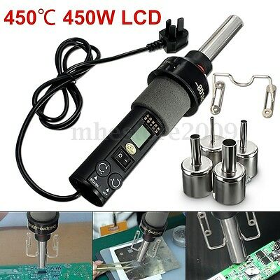 450℃ 450W Electronic LCD Soldering Station Hot Air Gun Soldering Bracket +Nozzle