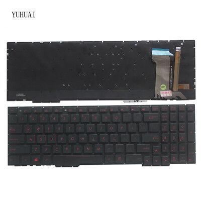 US Red backlit keyboard for Asus Rog GL553//GL553VD//GL553VE//GL553VW no palmrest