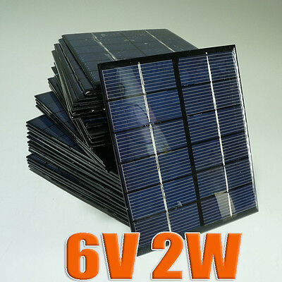 6V 2W 330mA Mini solar Panel small solar cell PV module for Solar DIY Kits