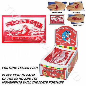 12x fortune telling fish party bag fillers teller fish for Fortune teller fish