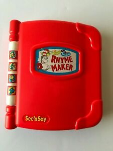 See-N-Say-Dr-Suess-Rhyme-Maker-Children-039-s-Electronic-Toy-Book-1997-Mattel