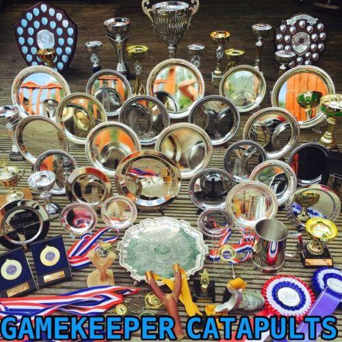 "TTF GAMEKEEPER CATAPULTS ""HUNTER BANDS"" DOUBLE THERABAND GOLD SLINGSHOT ELASTIC"