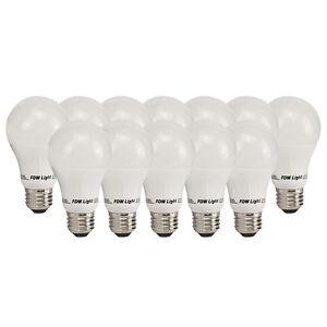New 60 Watt Equivalent SlimStyle A19 LED Light Bulb Soft White 3000K 12 Pack 60W