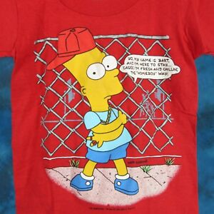 NOS-vintage-1990-BART-SIMPSON-HOMEBOY-THE-SIMPSONS-YOUTH-T-Shirt-hip-hop-cartoon