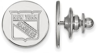 Precious Metal Without Stones Fine Jewelry Sterling Silver Nhl New York Rangers Lapel Pin By Logoart