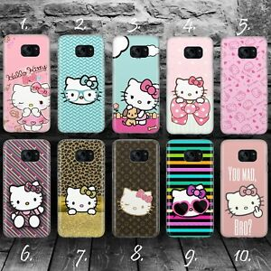 HELLO-KITTY-A-SILLY-CAT-GEL-Samsung-S5-S6-S7-S8-S9-Edge-plus-case-cover