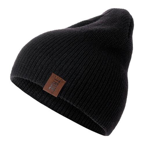 Hat Beanie Winter Cap Warm Knit Ski Skull Slouchy Men Women Plain Cuff High Bun