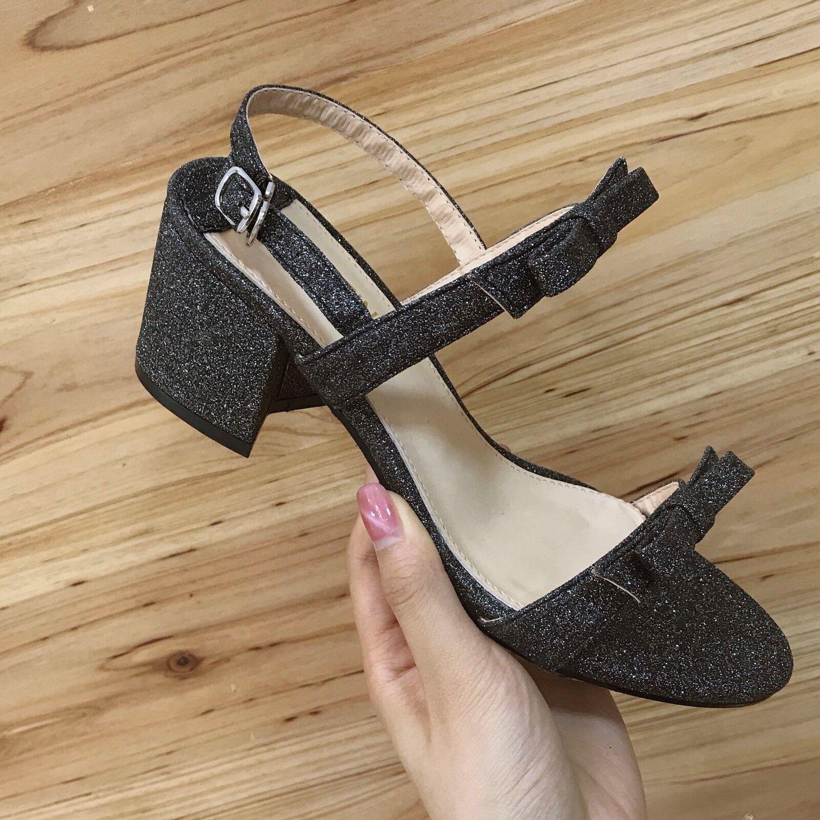Sandalen 7 cm elegant schwarz glanz absatz quadrat sandalen simil leder 1093   | Louis, ausführlich