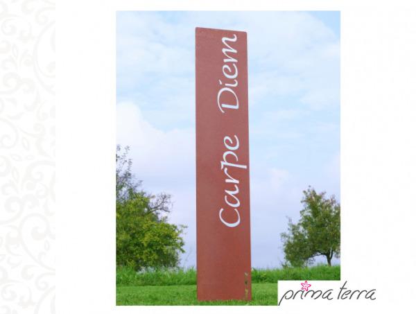 Prima Terra Carpe Diem Gartenstele Edelrost Stele Dekoration