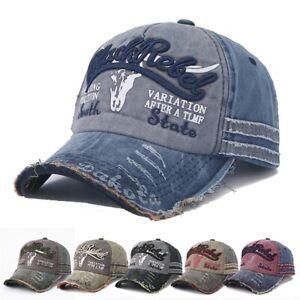 Baseball Cap Unisex Cotton Vintage Edge Trucker Motors Racing Motorcycle Biker Hat
