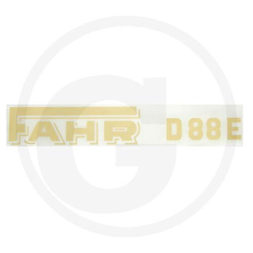 Schriftzug Logo Aufkleber Emblem Fahr D 88 E