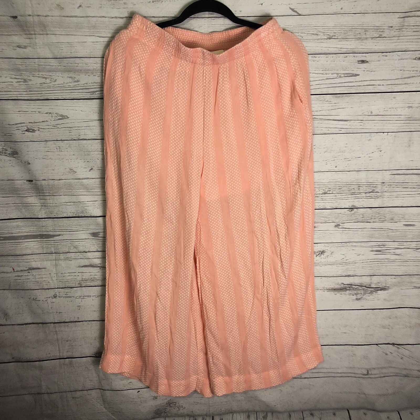 NWT NEW ANTHROPOLOGIE MAEVE NELL WIDE LEG CROP PANTS CULOTTES PINK pink S Small