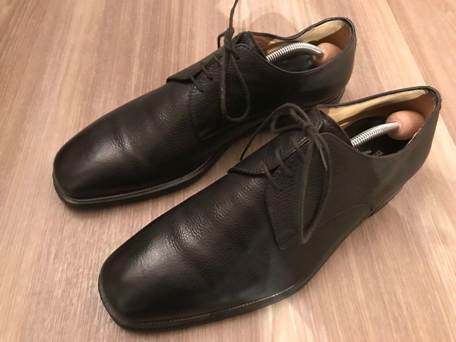 Ermenegildo Zegna Schuhe schwarz italienisch Volleder Herrenschuhe schwarz