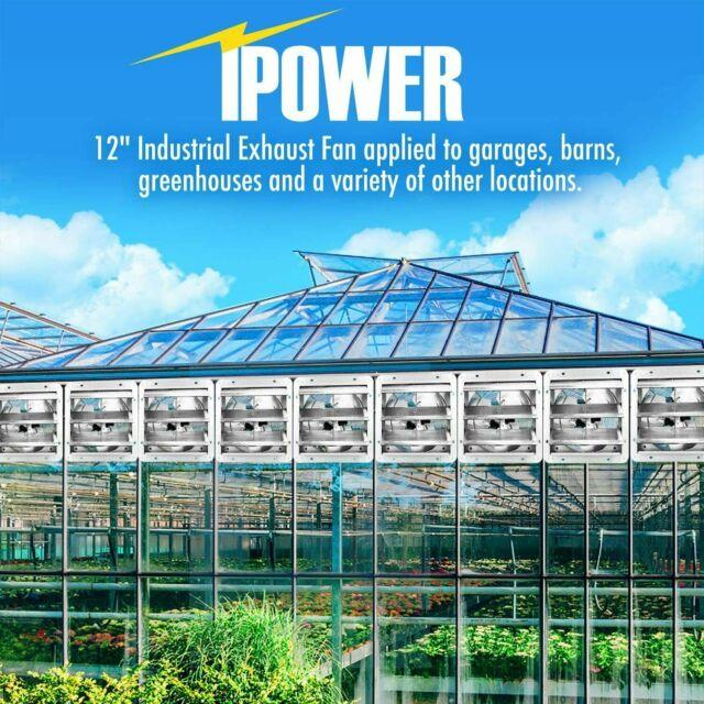 Silver for sale online iPower 12 inch Shutter Exhaust Fan
