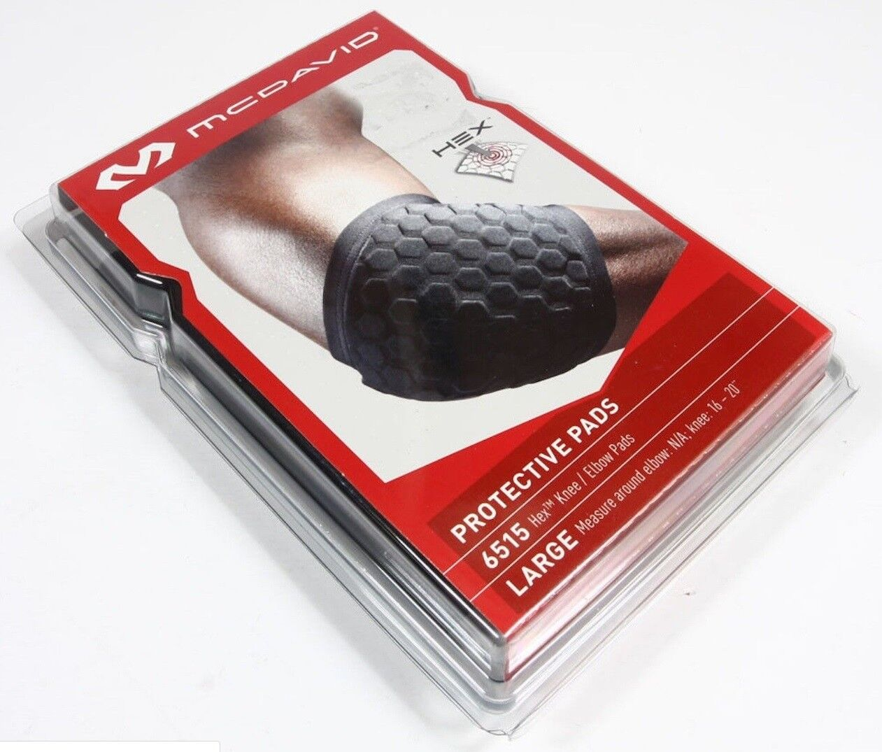 Pair Small McDavid Classic Logo 6515 CL Hex Knee Elbow Pads Black