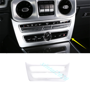 Silver ABS Inner Center Console Mode Cover Trim For Benz G Class G500 2019 2020