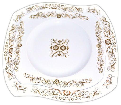 Servicio De Mesa 12 personas platos de porcelana de 43 piezas patrón de casa rural Pintado A Mano