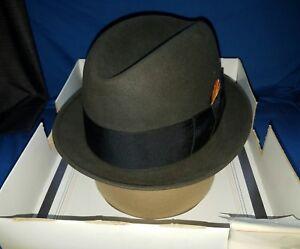 dc998c3a Vintage Men's Brown Stetson Fedora Hat 3X Beaver 6 7/8 in Original ...
