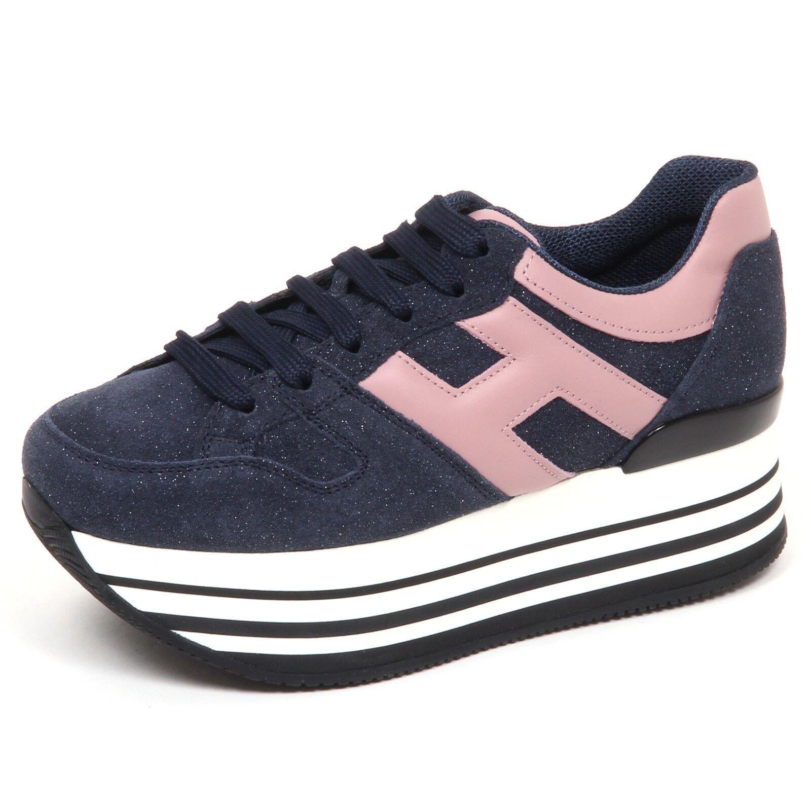 E0254 tenis mujer azul Hogan H283 Maxi 222 222 222 H Grande Zapato Mujer  tienda en linea