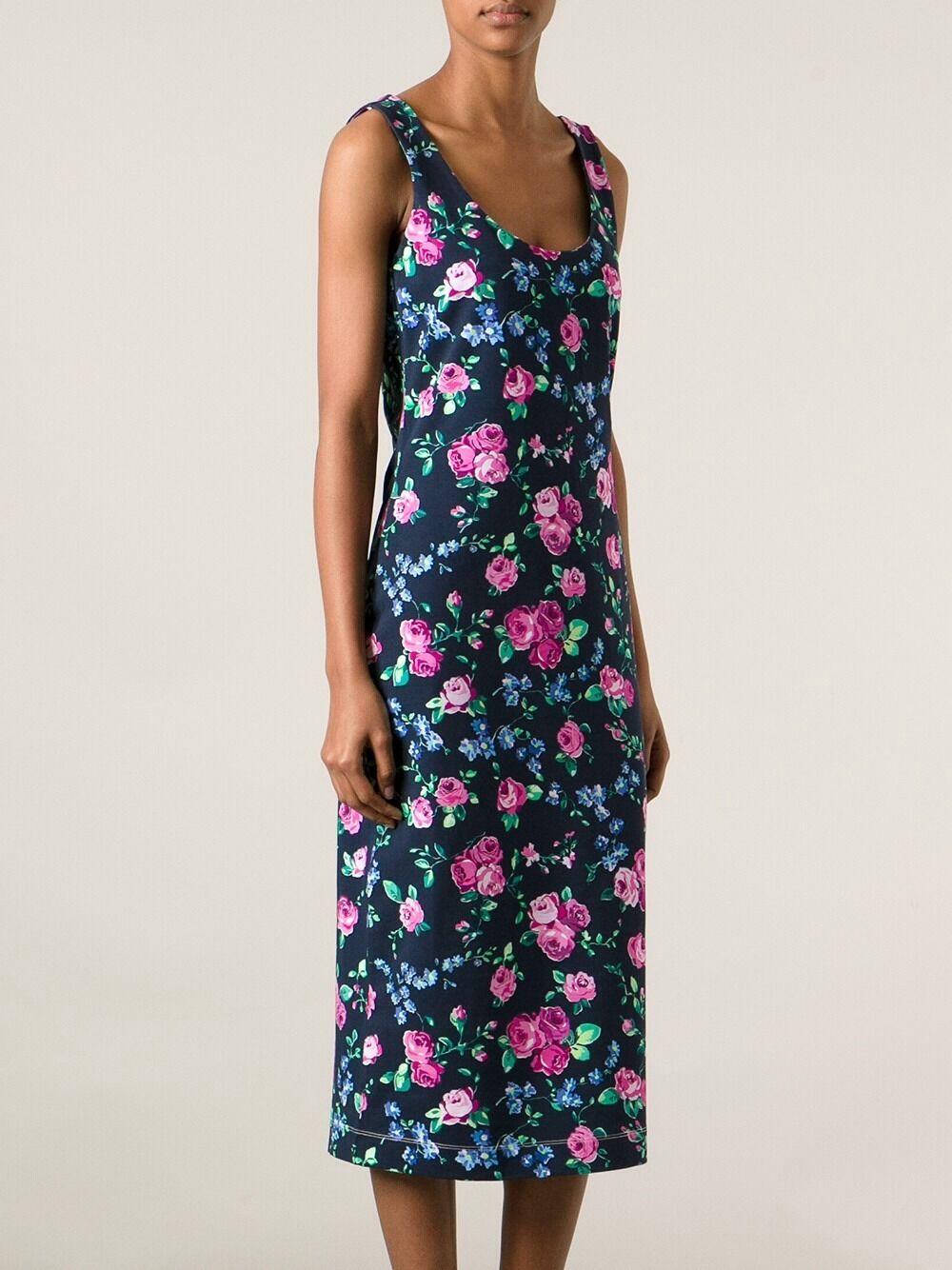 Amazing    CARVEN Kleid dunkelblau BlauMEN bunt Größe S  NEU b307aa