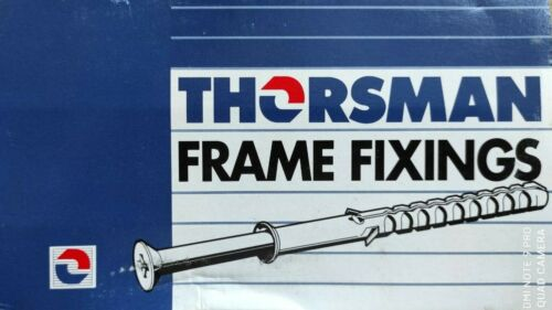 10x140mm WITH WALL PLUGS 50 pack 10x120 THORSMAN Frame Fixing Screws 10x100
