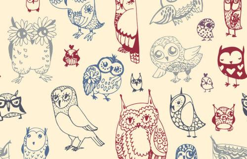 Owl Drawings Black Ballpoint Pen Bird Sketch Nature Art Gift #12410
