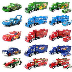 Disney-Pixar-Cars-Mack-Racer-039-s-Hauler-Truck-amp-Racers-Toy-Car-1-55-Kids-Gift-New