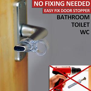 Image Is Loading BATHROOM WC TOILET DOOR STOP HANDLE STOPPER NO