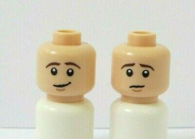 Lego 1 Flesh Minifigure Reversible Head Boy Man Smile Angry Ginger Beard