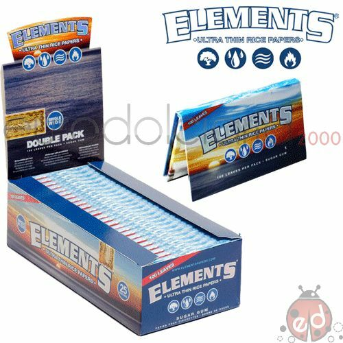 Cartine Elements Doppie di RISO - 25 libretti - 1 box + acc.