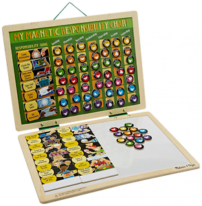 Image Is Loading Melissa Amp Doug Deluxe Wooden Magnetic Responsibility Chart