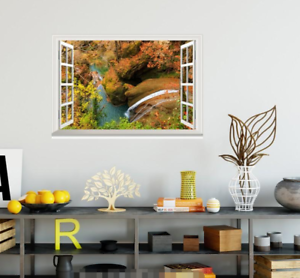 3D Landscape Forest 53 Open Windows Mural Wall Print Decal Deco AJ Wallpaper Ivy