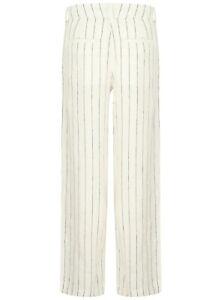 Ladies-Linen-Trousers-Striped-Wide-Leg-Trousers-Ex-Famous-Store-New-Cotton