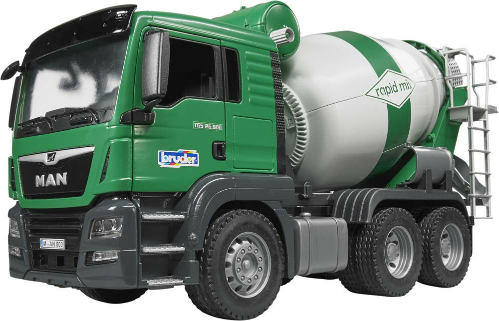 BRU3710 - Camion 6x4 MAN TGS malaxeur toupie jouet BRUDER -