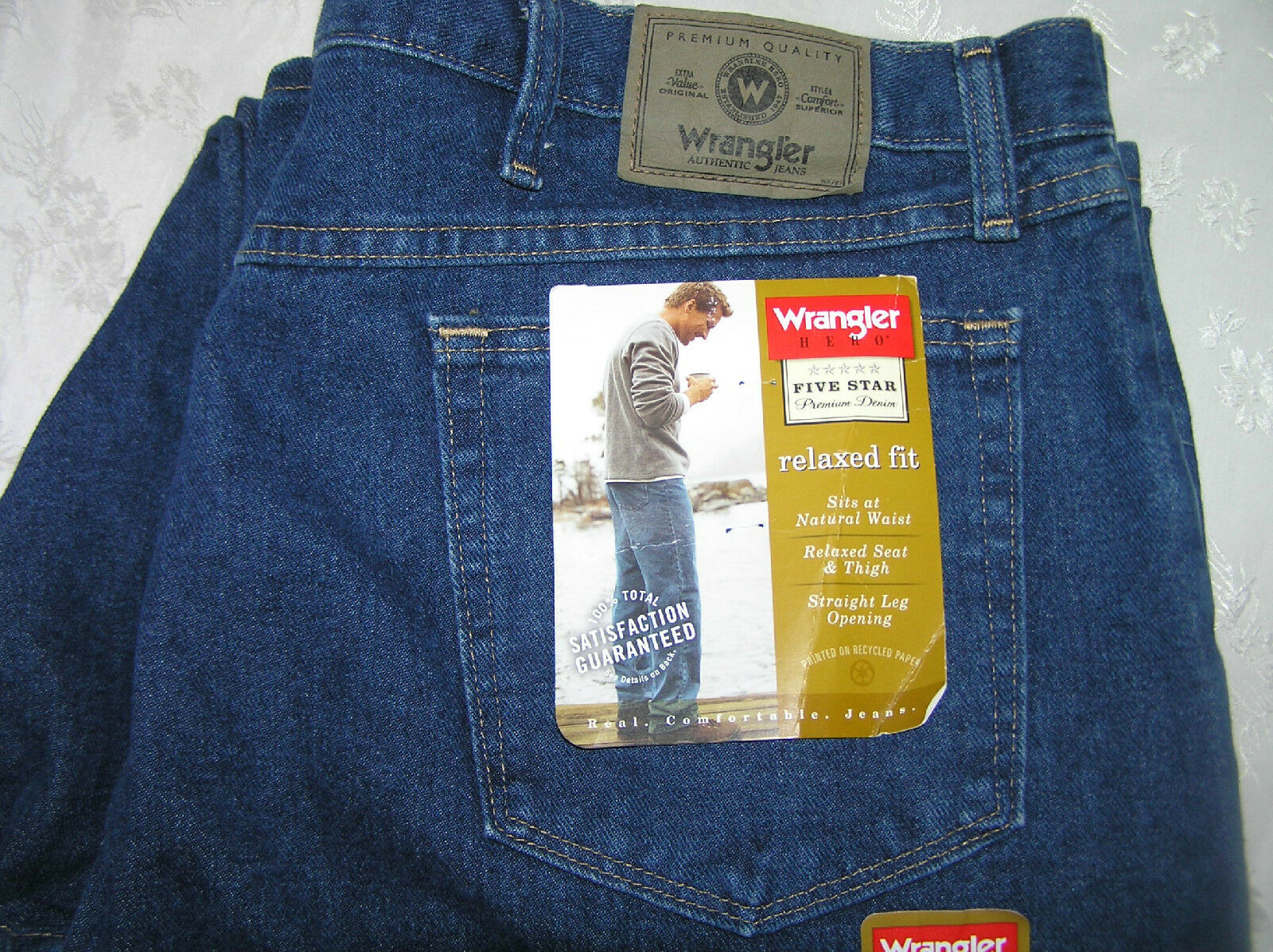 Men's Jeans WRANGLER HERO Relaxed Fit Big and Tall  Size 42 x 32  Man's Pants
