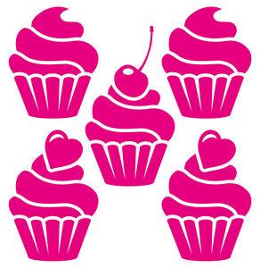 Cupcake Aufkleber Deko Sticker Set Muffin Kuchen Fliesen Kuche
