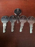 Ezgo Golf Cart Gas & Electric Keys 82+ Including Txt, Rxv (set Of 5) Parts