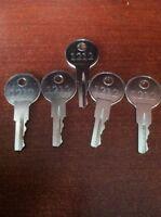 Ezgo Golf Cart Gas & Electric Keys 82+ Including Txt, Rxv (set Of 5) Parts