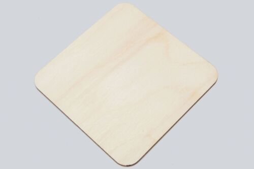 Wooden Coasters 95mm Unpainted Wooden Squares 5pcs Craft Art Gift Decoupage