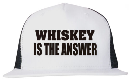 Whiskey is the Answer Unisex Trucker Hat Cap Adjustable