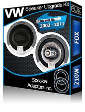 VW Fox Front Door Speakers Fli car speakers + speaker adapters 210W