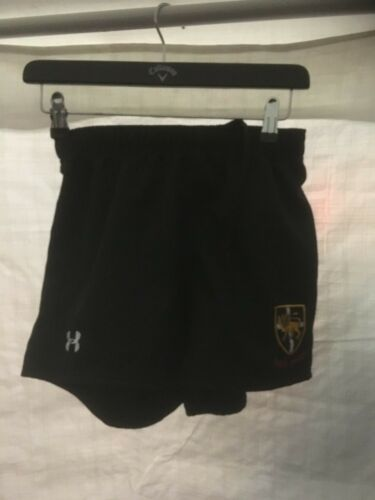 Under Armour ESHER RFC Youth Kids Black Rugby Shorts Sports Active Leisure NEW