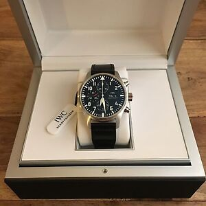cd0e9af14c0 Image is loading Unworn-IWC-Pilot-s-Watch-Chronograph-IW377709