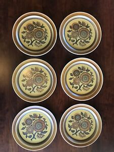 Casual Ceram Stoneware Medley Ch 9604 Set Of 6 Dinner Plates 10 12