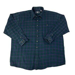 Sutter-amp-Grant-Mens-Size-2XLT-Tall-Blue-amp-Green-Long-Sleeve-Button-Front-Shirt
