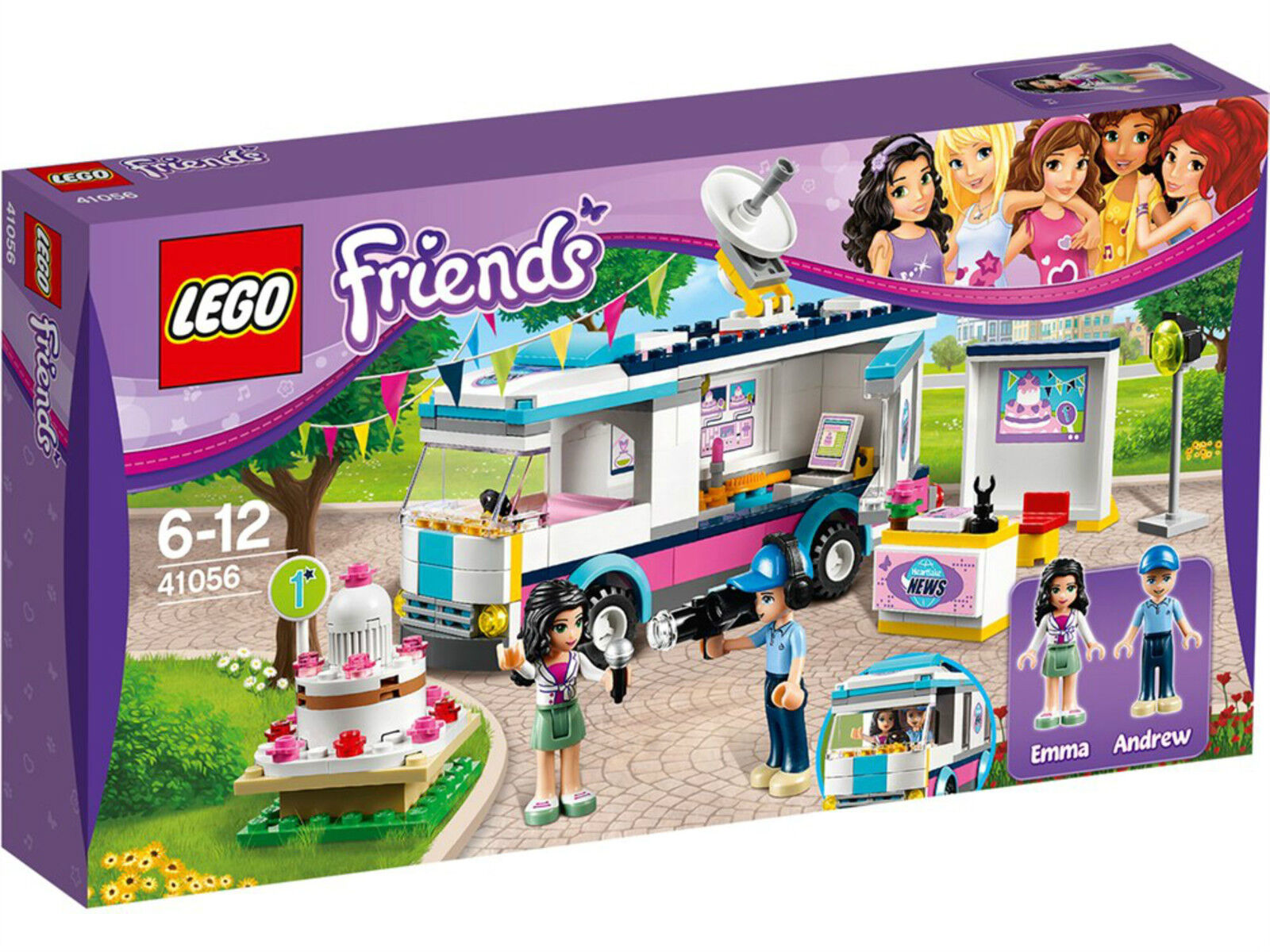 Lego Friends Heartlake News Van Bnib Inc Emma Andrew Mini Doll