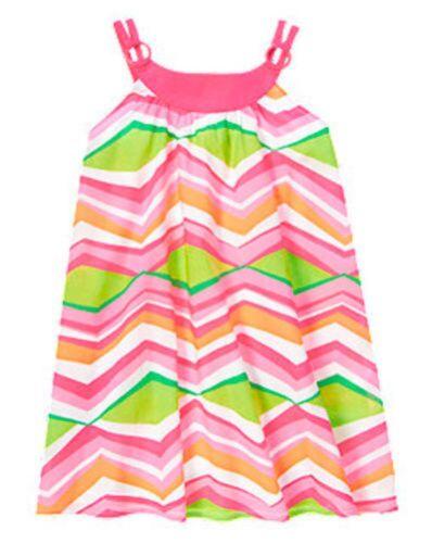 NWT Gymboree Girls Tropi Cutie Chevron Dress Size 4 5 6 7 /& 8