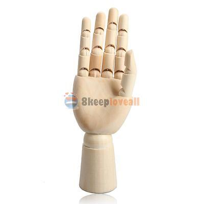 Wooden Right Hand Body Artist Model Jointed Articulated Wood Sculpture Mannequin